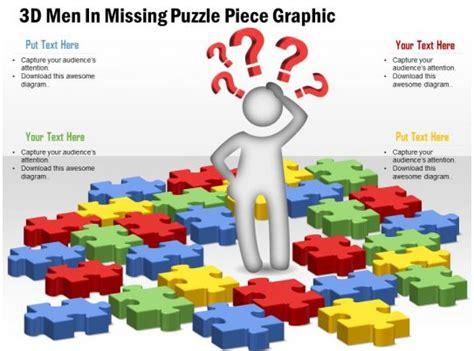 business plan  men  missing puzzle piece graphic