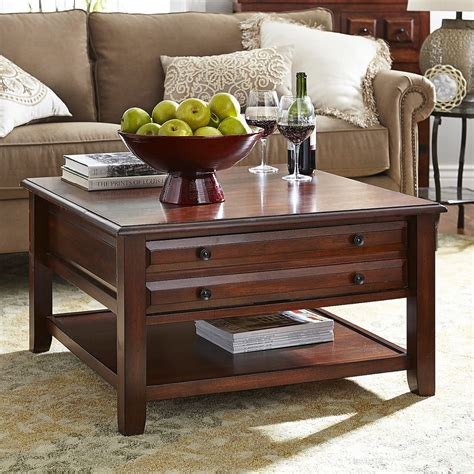 A single square coffee table works really well for a sofa with a chaise or a sectional. Anywhere Square Coffee Table - Tuscan Brown | Pier 1 Imports | Coffee table, Tuscan decorating ...