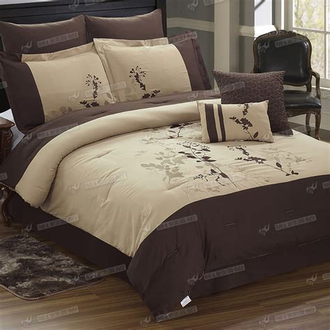 8pc duvet cover comforter embroidery pattern bed sheet