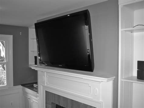 Inspirations How To Hide Tv Wires Over Brick Fireplace