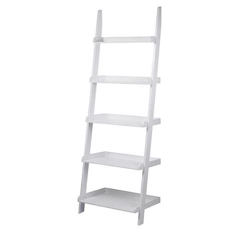 uberhaus design 5 shelves ladder bookcase white fie bkrak02 w rona
