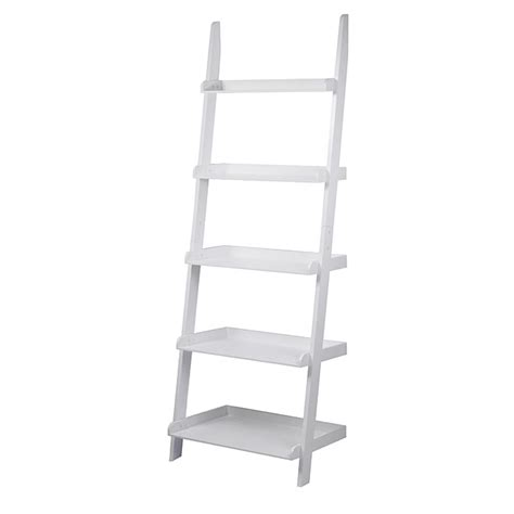 Ladder Etagere by 5 Shelves Ladder Bookcase Rona