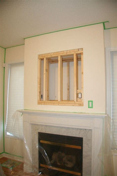 diy installing  inches lcd tv   fireplace