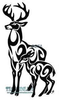 Tribal Deer Skull Tattoo Designs