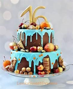 Chocolate Ganache Birthday Cake. - CakeCentral.com