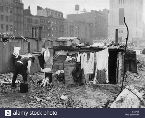 Washing Place In A New York Slum During The Great