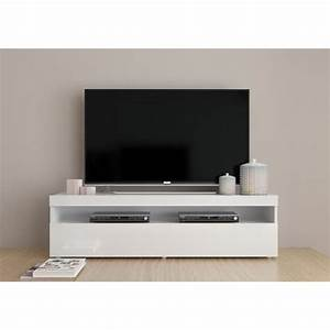 finlandek meuble tv contemporain laque blanc l 130 cm With k meuble avis