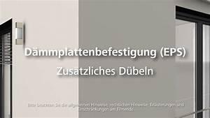 Dübel Für Dämmung : d mmung eps d beln w rmed mmung wdvs fassadend mmung verarbeitung youtube ~ A.2002-acura-tl-radio.info Haus und Dekorationen