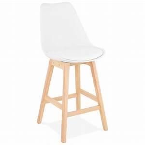 Chaise Mi Hauteur : tabouret de bar chaise de bar mi hauteur design scandinave dylan mini blanc ~ Teatrodelosmanantiales.com Idées de Décoration