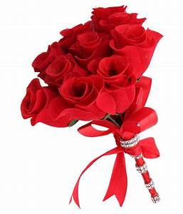 Sanjog Artificial Red Flower Bouquet For Gift & Home