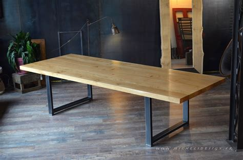 table cuisine sur mesure table haute de style industriel micheli design