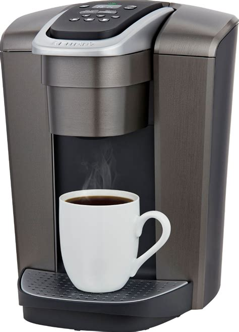 It features five brew sizes, so you can brew 4, 6, 8, 10, or 12oz of your favorite coffee, tea, hot cocoa, or iced. Customer Reviews: Keurig K-Elite Single-Serve K-Cup Pod Coffee Maker Brushed Slate 5000197490 ...