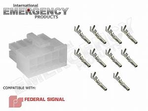 10 Pin Connector Plug For Federal Signal Pa300 Siren 69000