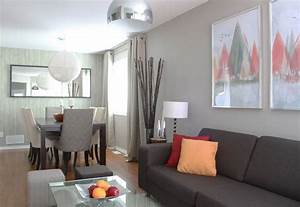 Braunes Sofa Weiße Möbel : kleines wohn esszimmer einrichten 22 moderne ideen ~ Sanjose-hotels-ca.com Haus und Dekorationen