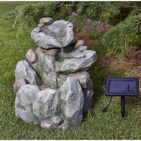 fontaine exterieur solaire fontaine solaire cascade rocher solairepratique