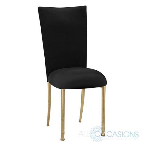 Black Velvet Chairs by Chameleon Chair Gold Fanfare Black Velvet Chair Cover And