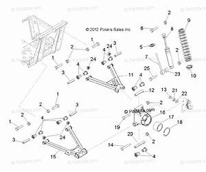 Polaris Side By Side 2013 Oem Parts Diagram For Suspension