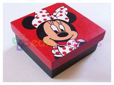 minnie mouse cajas cajas cofre y madera