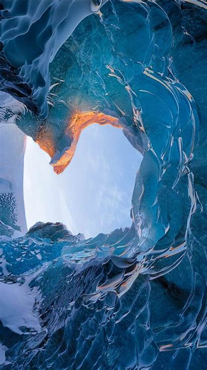 Ice Cave Iceland Skaftafell Iphone Wallpapers Plus
