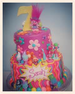 Trolls Movie Birthday Cake