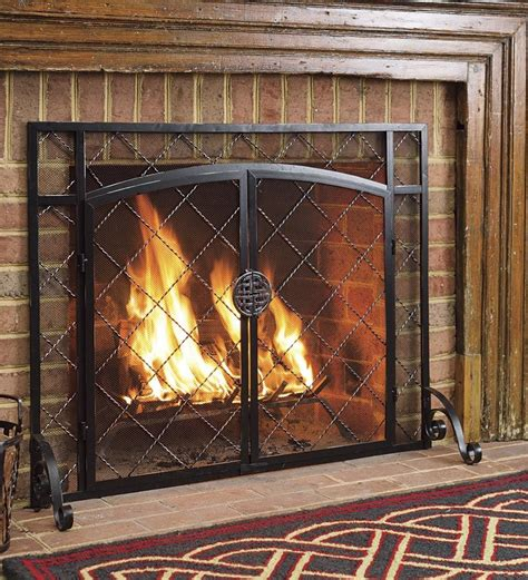 Fireplace Flat Screen by Flat Steel Fireplace Chimney Fire Place Guard Firescreen