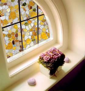 le film adhesif de vitrage est pour la decoration facile With meuble cuisine blanc laque 17 mettons des briques de verre dans la salle de bains