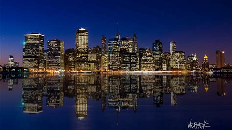 manhattan night skyline wallpapers hd wallpapers id