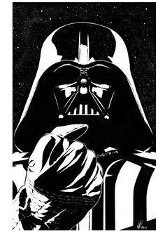 Tatuaje surrealista de Darth Vader situado en el pie