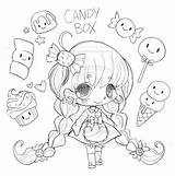 Candy Coloring Chibi Yampuff Sweet Deviantart Commission りん さち Kawaii Sketch Drawing sketch template