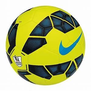 Nike Pitch EPL Soccer Ball (Volt/Black/Process Blue)