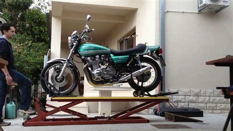 motorcycle lift table kawasakitriphd youtube