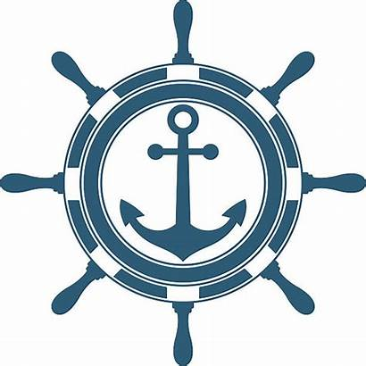Anchor Wheel Clipart Steering Vector Boat Clip