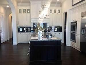 White Cabinet Kitchens Dark Floors