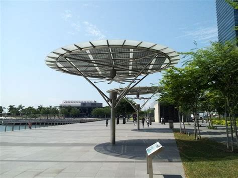 solar outdoor ceiling fan breeze shelters in marina bay sands singapore by big