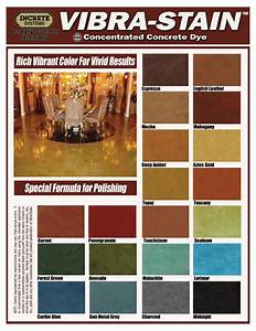 Polished Concrete Color Chart Decorative Concrete Of