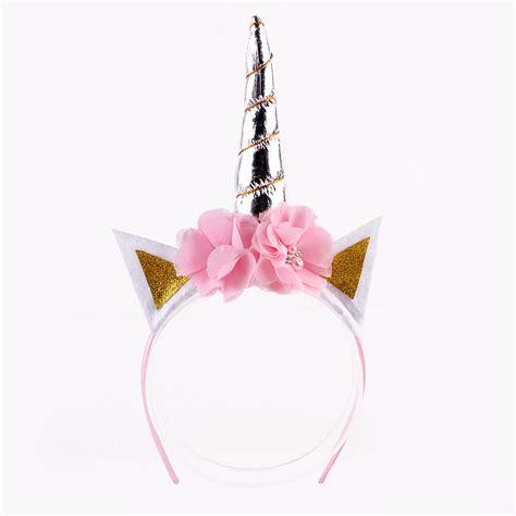 glitter metallic unicorn headbandfor girls  kids diy