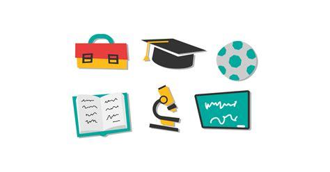 school accessories  vector  png illustrations