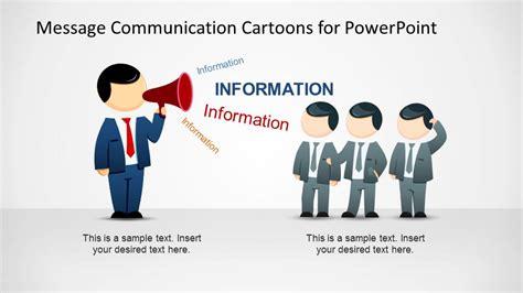 mike cartoon  megaphone sending message powerpoint