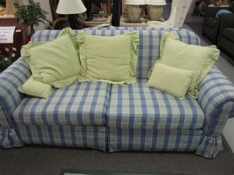 plaid sofas for sale blue plaid sofa loveseat in johns island sc