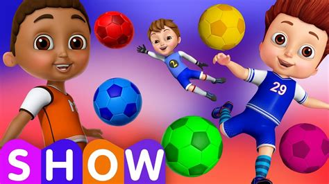 football colors learn colors with football play with colorful