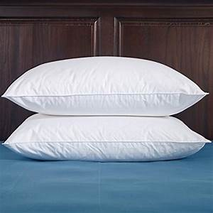puredown white down pillow 100 cotton fabric 600 fill With down pillow protector