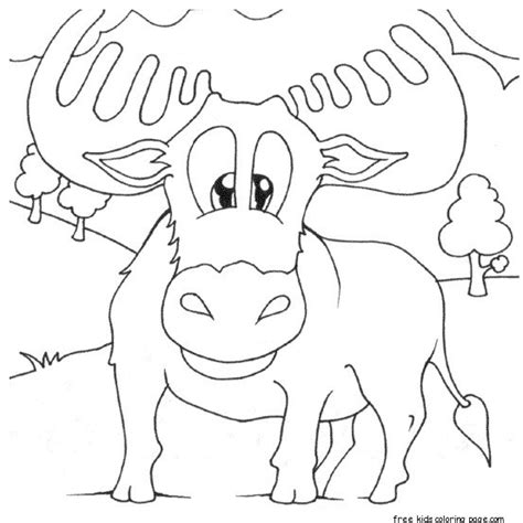 norwegian moose coloring pages printable  kidsfree