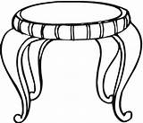 Table Coloring Household Clipartbest Clipart sketch template