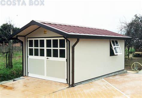 box auto prefabbricati garage coibentato a due spioventi baita costabox