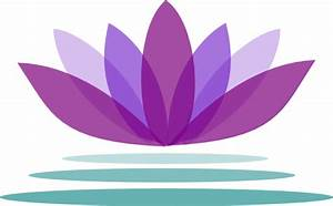 Purple Lotus Flower With Water Clip Art at Clker.com ...