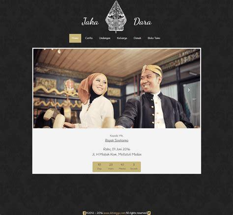 desain undangan  elegant traditional datangyacom