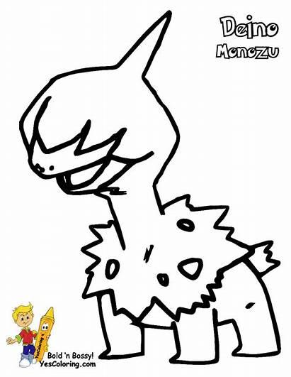 Pokemon Coloring Deino Pages Zweilous Hydreigon Sheets