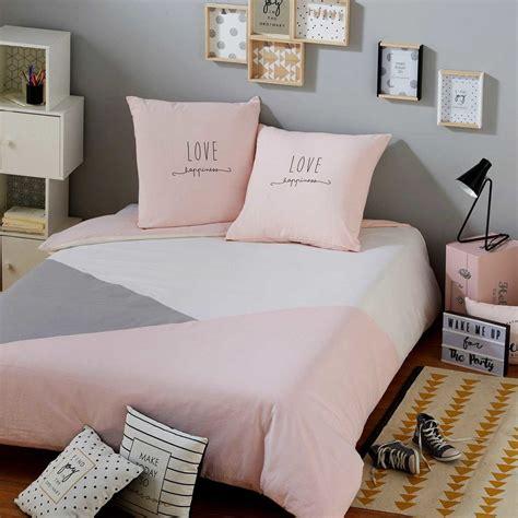 parure de lit gris parure de lit en coton gris et 140x200cm