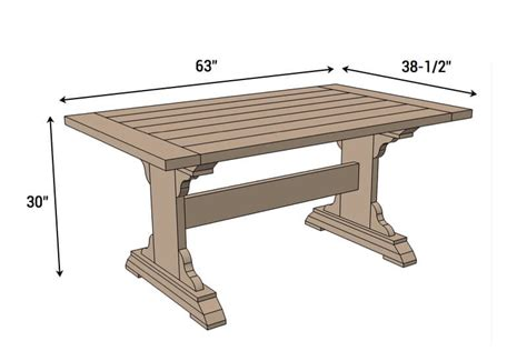 diy dining table plans monastery dining table free diy plans rogue engineer