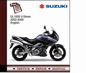 Suzuki Dl1000 V-strom 2002-2009 Service Manual